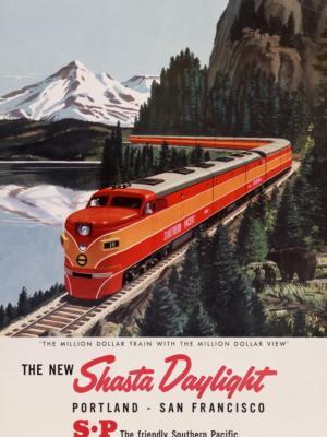"""Купить для интерьера на стену Постер """"Дневной поезд Портленд - Сан-Франциско"""" США 1950"""