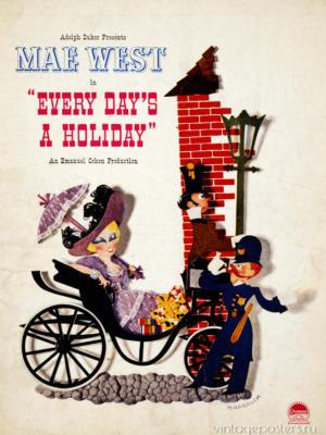 """Купить для интерьера на стену Постер к/ф """"Каждый день это праздник"""" США 1938"""