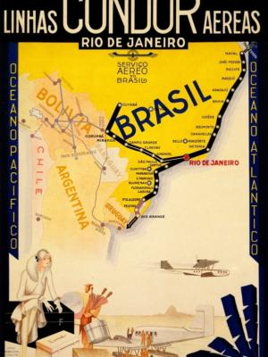 """Купить для интерьера на стену Постер """"Linhas Condor Aereas"""" Рио-де-Жанейро 1935"""