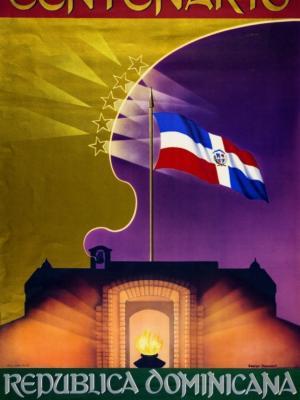 """Купить для интерьера на стену Постер """"Столетие Доминиканской Республики"""" 1944"""