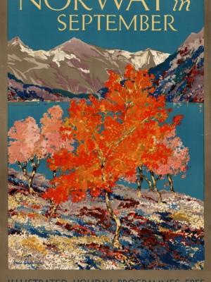 """Купить для интерьера на стену Постер """"Норвегия в сентябре"""" Лондон 1920"""