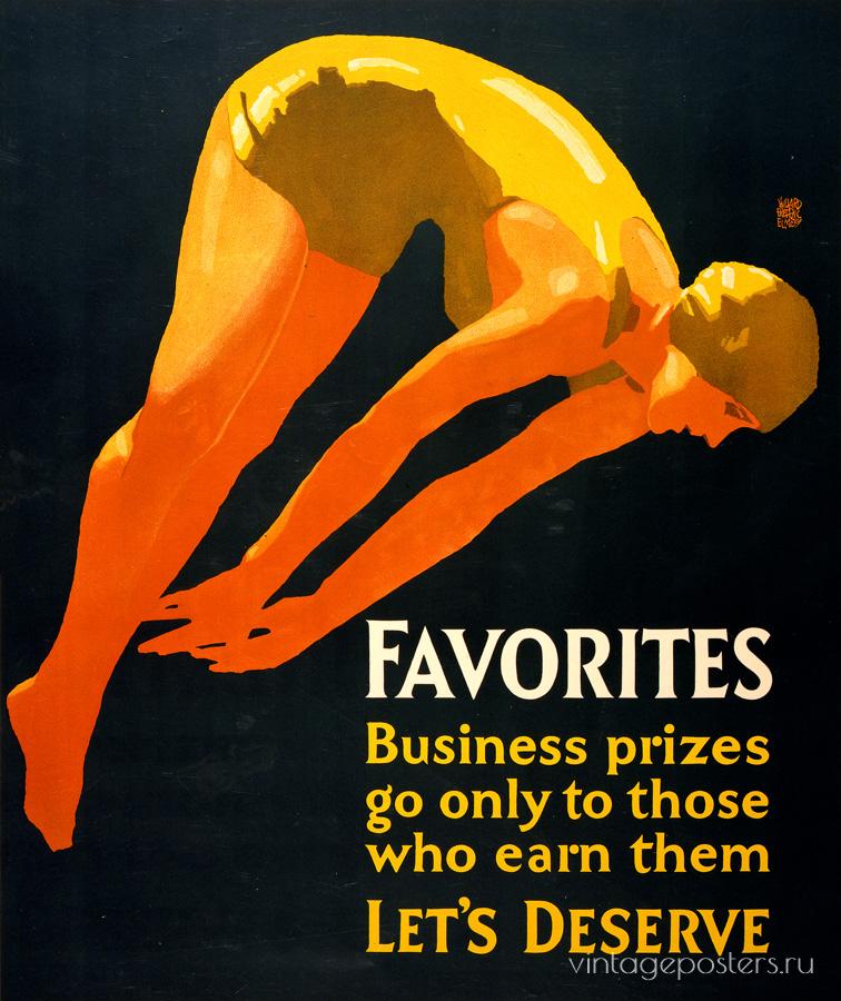 """Купить для интерьера на стену Постер """"Favorites"""" Чикаго 1929"""