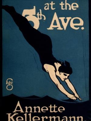 """Купить для интерьера на стену Постер """"Аннет Келлерман на 5-й авеню"""" Нью-Йорк 1910"""