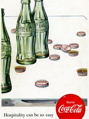 """Купить для интерьера на стену Постер """"Coca-Cola. Hospitality can be so easy"""" США 1960"""