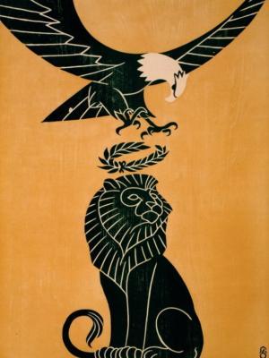 """Купить для интерьера на стену Постер """"Америка венчает Великобританию"""" Нью-Йорк 1917"""