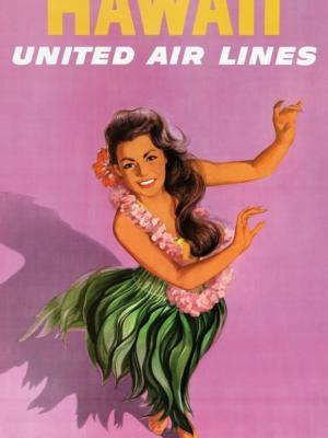 """Купить для интерьера на стену Постер """"Гаваи"""" 1960"""