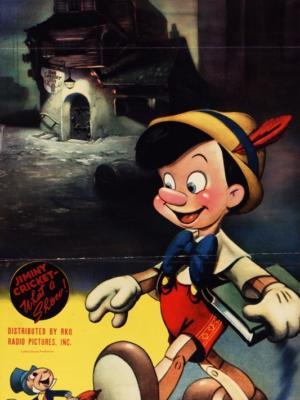 """Купить для интерьера на стену Постер м/ф """"Пиноккио"""" США 1940"""