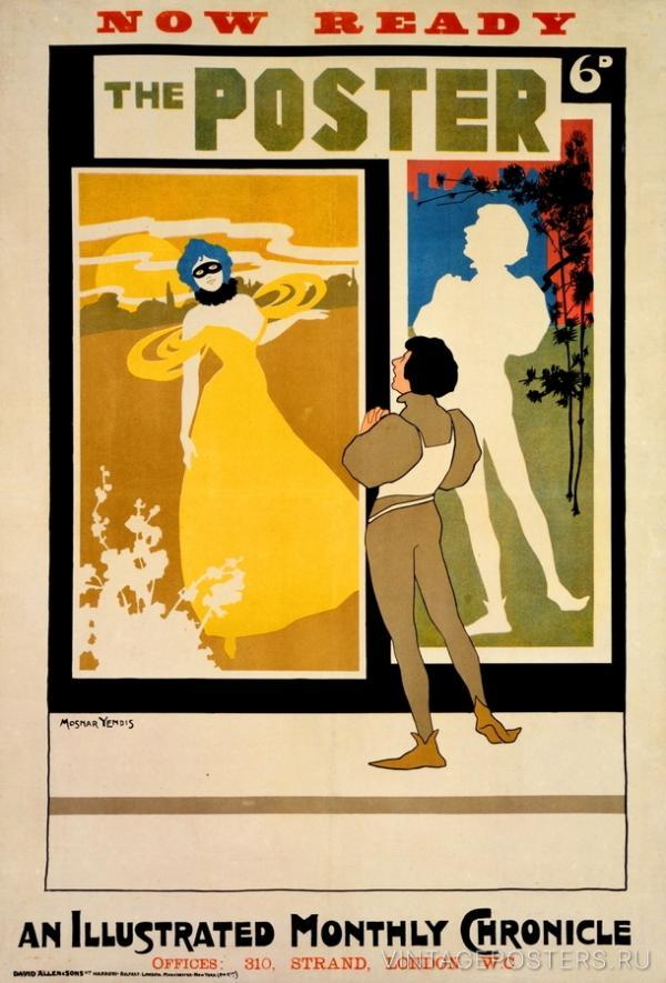 """Купить для интерьера на стену Постер """"Иллюстрированный ежемесячник The Poster"""" Британия 1898"""