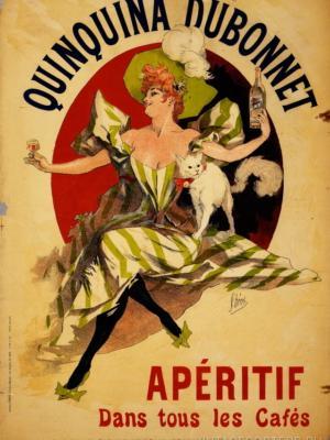 """Купить для интерьера на стену Постер """"Хинное Dubonnet. Аперитив в кафе"""" Париж 1895"""