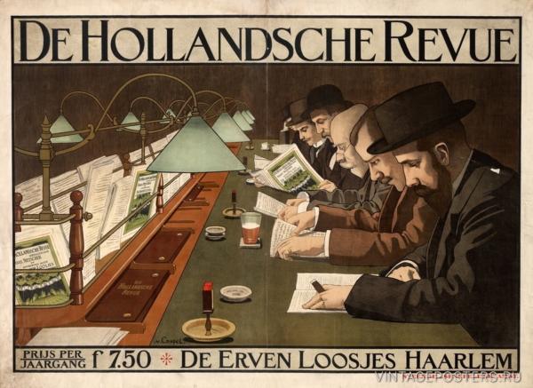"""Купить для интерьера на стену Постер """"Журнал De Hollandsche Revue"""" Амстердам 1910"""