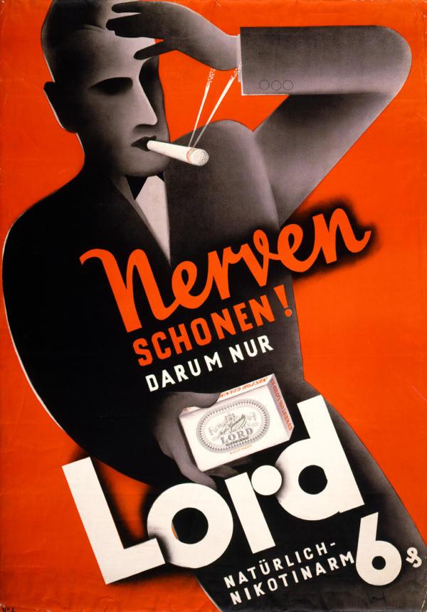 """Купить для интерьера на стену Постер """"Береги нервы! Только Lord"""" Германия 1930"""
