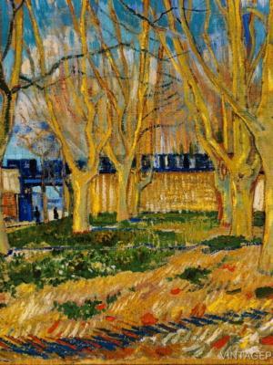 """Купить для интерьера на стену Постер """"Винсент Ван Гог. Голубой поезд"""" 1888"""