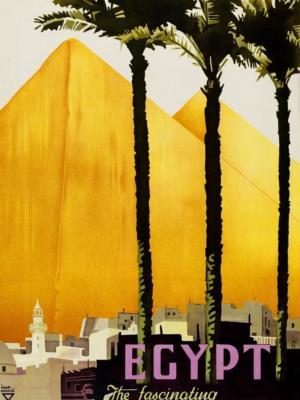 """Купить для интерьера на стену Постер """"Египт. Удивительная страна фараонов"""" 1937"""