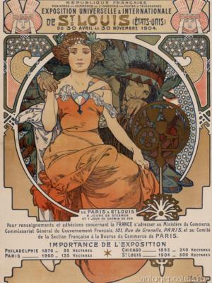 """Купить для интерьера на стену Постер """"Всемирная выставка"""" Сент-Луис 1904"""