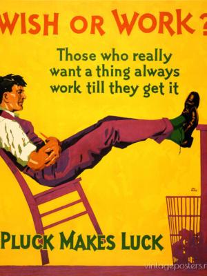 """Купить для интерьера на стену Постер """"Wish or Work?"""" Чикаго 1929"""