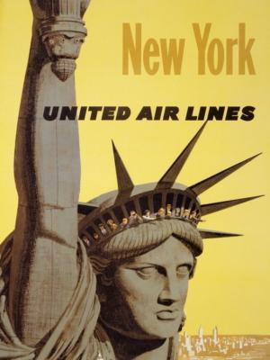 """Купить для интерьера на стену Постер """"Нью-Йорк"""" 1960"""