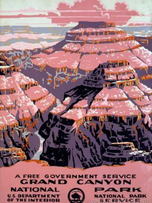 """Купить для интерьера на стену Постер """"Национальный парк Гранд-Каньон"""" США 1938"""