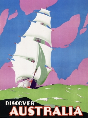"""Купить для интерьера на стену Постер """"Откройте Австралию. Празднование столетия Мельбурна"""" Австралия 1934"""