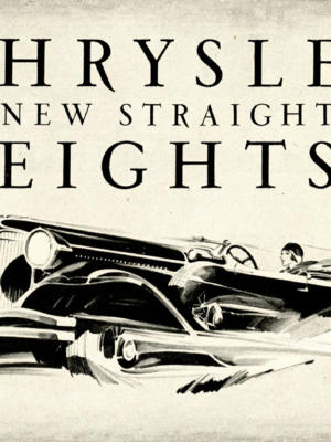 "Купить для интерьера на стену Постер ""Chrysler. New straight eights"" США 1930"