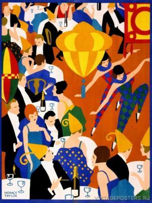 """Купить для интерьера на стену Постер """"Лондонский ресторан"""" 1924"""