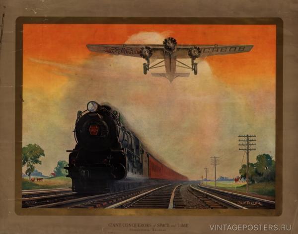 """Купить для интерьера на стену Постер """"Гиганты-покорители пространства и времени"""" США 1931"""