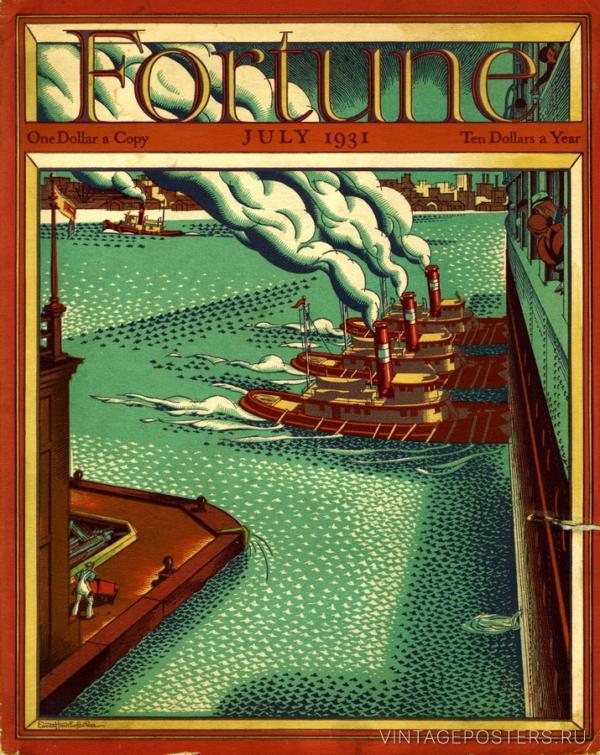 """Купить для интерьера на стену Постер """"Обложка журнала Fortune"""" июль 1931"""