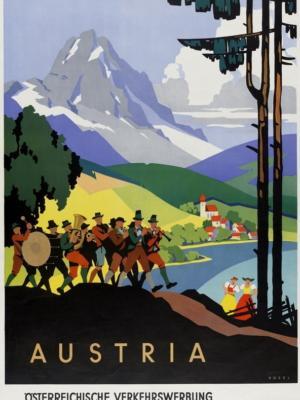 """Купить для интерьера на стену Постер """"Австрия"""" 1930"""