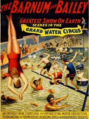 """Купить для интерьера на стену Постер """"Барнум & Бэйли. Большой цирк воды"""" Нью-Йорк 1895"""