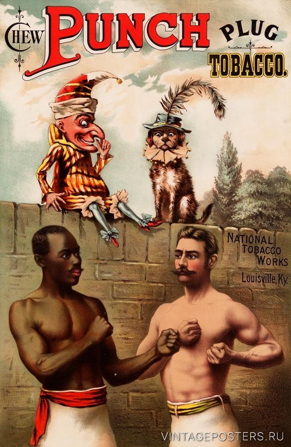 """Купить для интерьера на стену Постер """"Chew Punch Табак"""" Луисвилл 1886"""