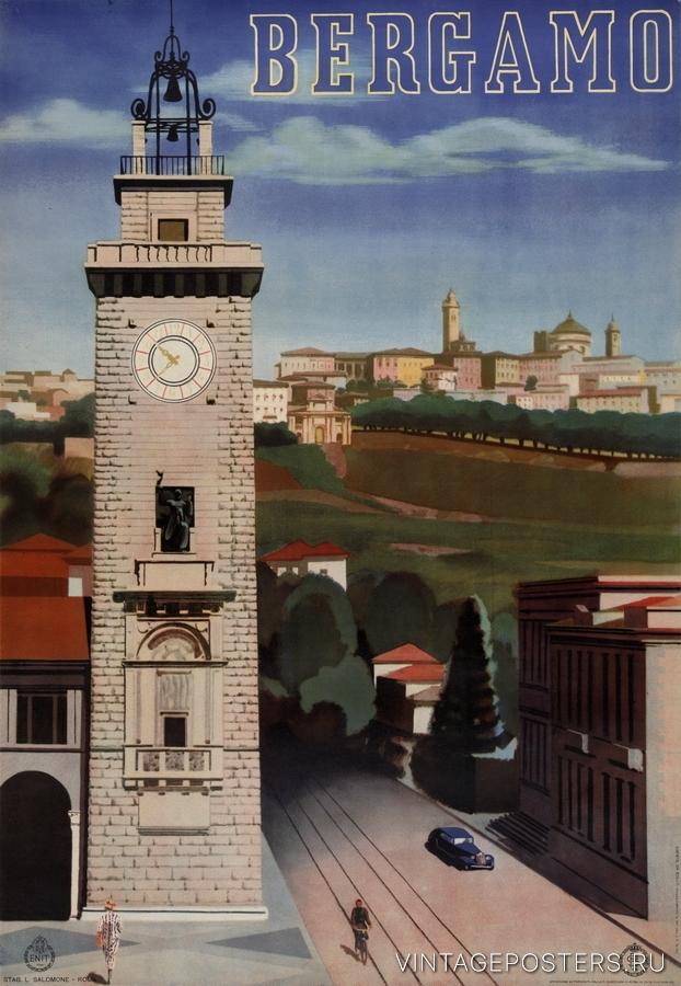 """Купить для интерьера на стену Постер """"Бергамо"""" Рим 1938"""