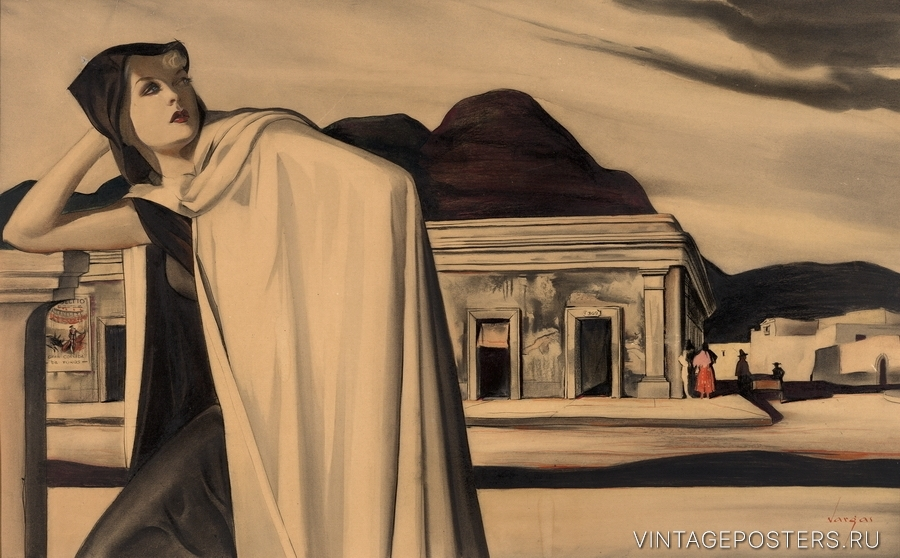 """Купить для интерьера на стену Постер """"Поездка в Мексику"""" 1950"""