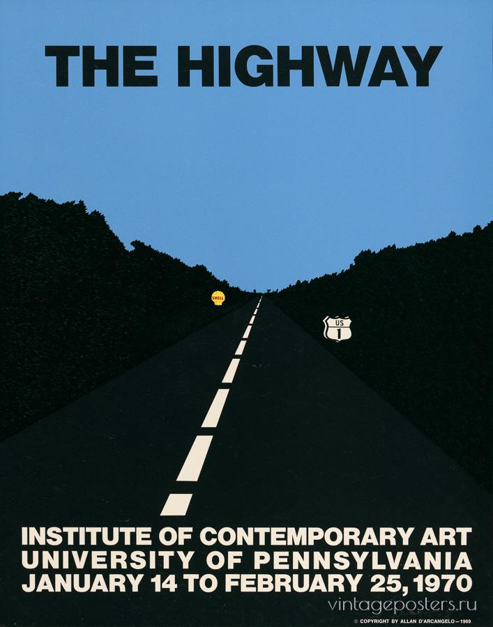 """Купить для интерьера на стену Постер """"Шоссе. Институт современного искусства"""" США 1970"""