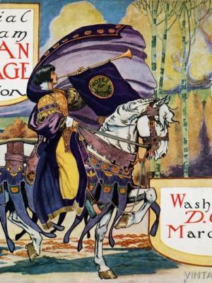 """Купить для интерьера на стену Постер """"Демонстрация суфражисток"""" Вашингтон 1913"""