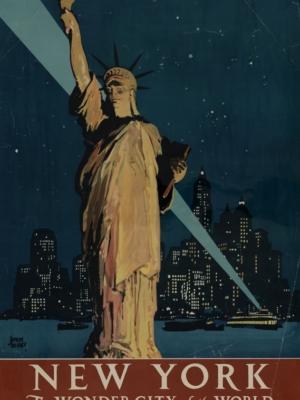 """Купить для интерьера на стену Постер """"Нью-Йорк - чудесный город земли"""""""
