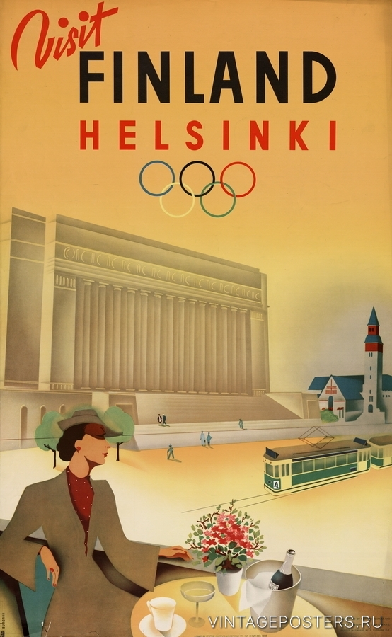 """Купить для интерьера на стену Постер """"Посетите Финляндию"""" Хельсинки 1940"""