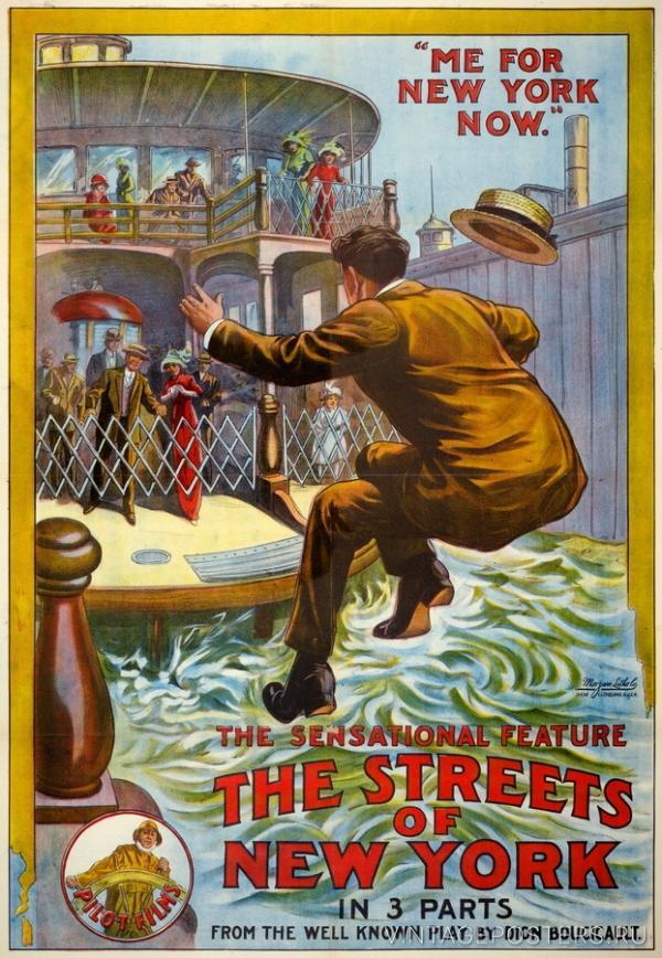 """Купить для интерьера на стену Постер к/ф """"Улицы Нью-Йорка"""" США 1913"""
