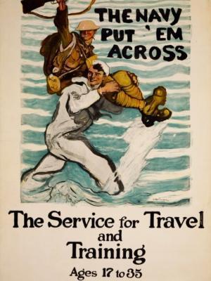 """Купить для интерьера на стену Постер """"Служба для путшествий и тренировок"""" США 1918"""