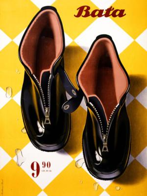 """Купить для интерьера на стену Постер """"Обувь Bata"""" Цюрих 1947"""