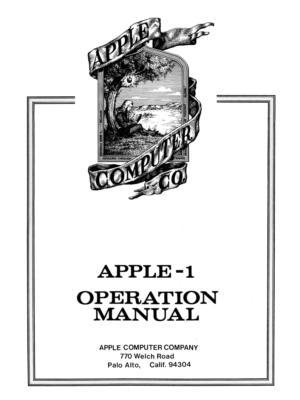 """Купить для интерьера на стену Постер """"Компьютер Apple-1. Инструкция"""" 1976"""