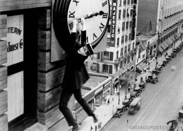 """Купить для интерьера на стену Постер к/ф """"Наконец в безопасности"""" 1923"""