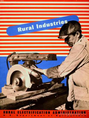 """Купить для интерьера на стену Постер """"Электрификация. Rural Industries"""" США 1930"""