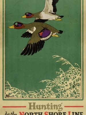 """Купить для интерьера на стену Постер """"Охота на уток"""" Чикаго 1923"""