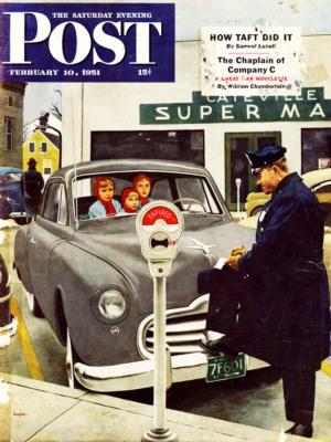 """Купить для интерьера на стену Постер """"Обложка журнала The Saturday Evening Post"""" США февраль 1951"""