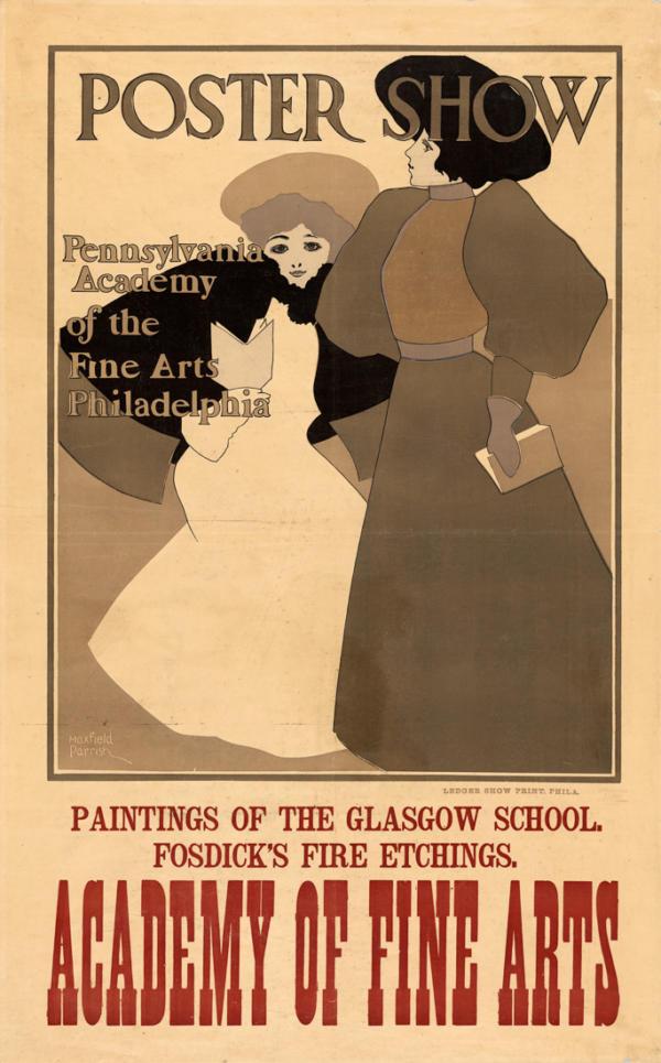 """Купить для интерьера на стену Постер """"Выставка постеров. Академия изящных искусств"""" США 1896"""
