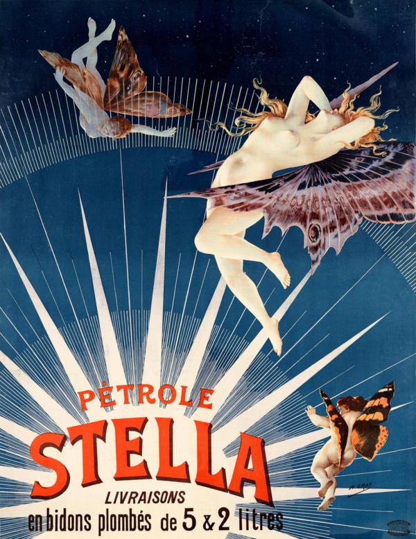 """Купить для интерьера на стену Постер """"Керосин Stella"""" Франция 1897"""
