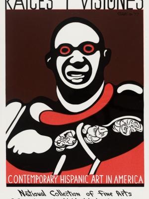 """Купить для интерьера на стену Постер """"Корни и виденье. Современное латиноамериканское искусство в Америке"""" США 1977"""