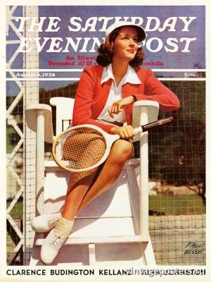 """Купить для интерьера на стену Постер """"Обложка журнала The Saturday Evening Post"""" США август 1938"""