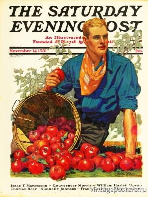 """Купить для интерьера на стену Постер """"Обложка журнала The Saturday Evening Post"""" США ноябрь 1931"""