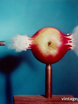 """Купить для интерьера на стену Постер """"Пуля и яблоко"""" США 1964"""