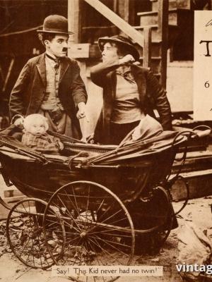 """Купить для интерьера на стену Постер к/ф """"Чарли Чаплин. Ребенок"""" США 1921"""